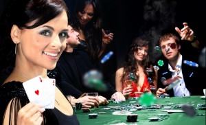 Christmas party with casino James Bond theme
