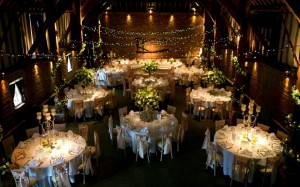 Christmas party in a barn Event Venues www.event-venue-finder.com